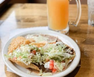 Daily Eats | Tostadas with carne asana and rice and beans on the side from Murrieta's in Reno, Nevada