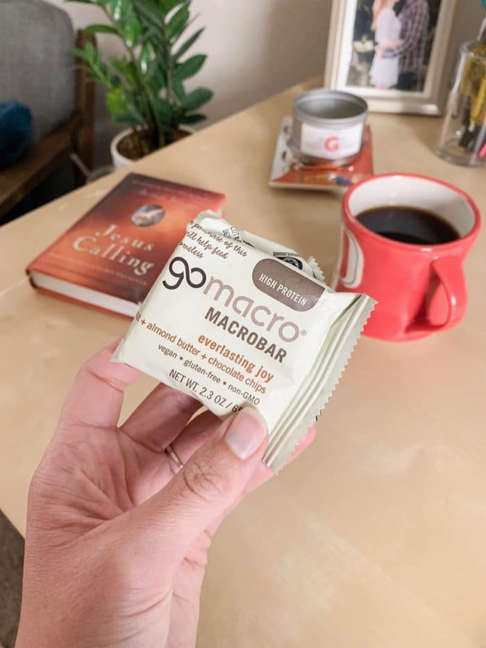 Daily Eats | Decaf black coffee and GoMarco's Everlasting Joy bar