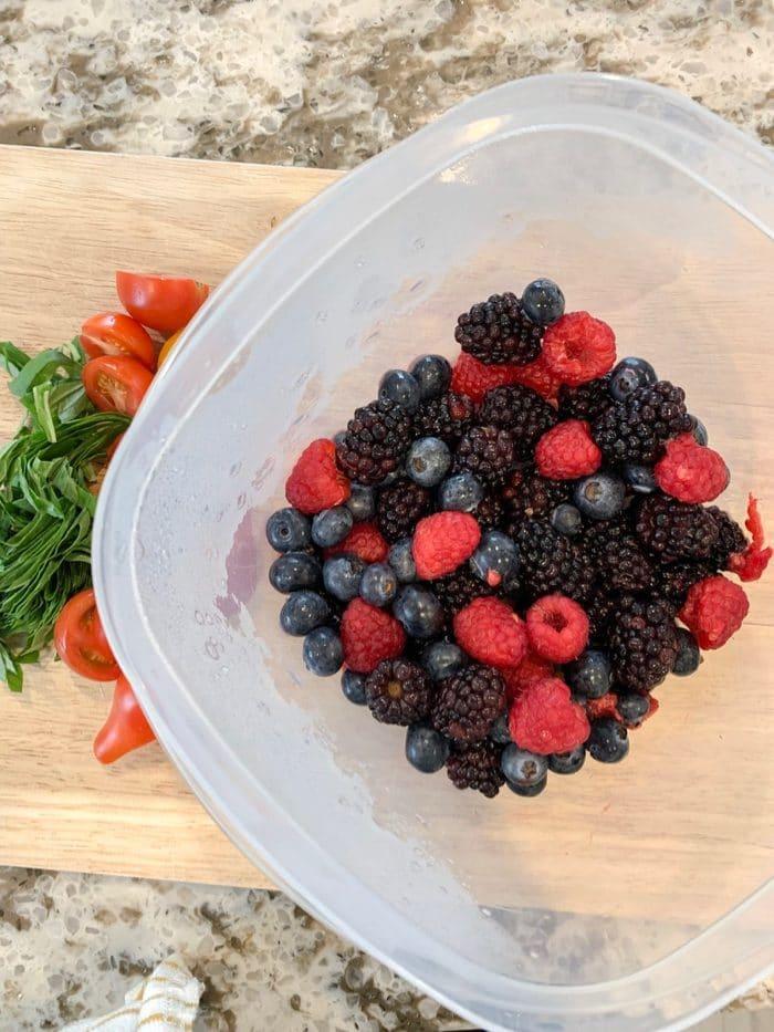 Daily Eats | Fresh, mixed berries: blueberries, raspberries, and blueberries.