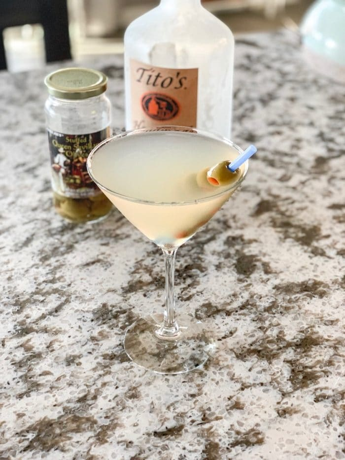 Daily Eats | DIY Dirty Martini with olives.