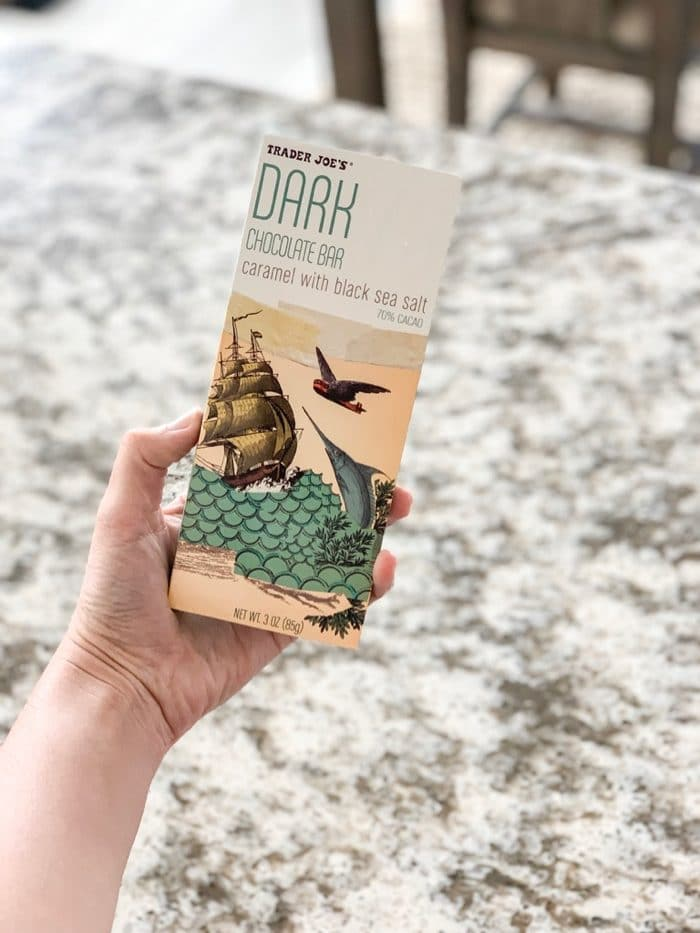Daily Eats | Trader Joe's Dark Chocolate Bar Caramel with Black Sea Salt