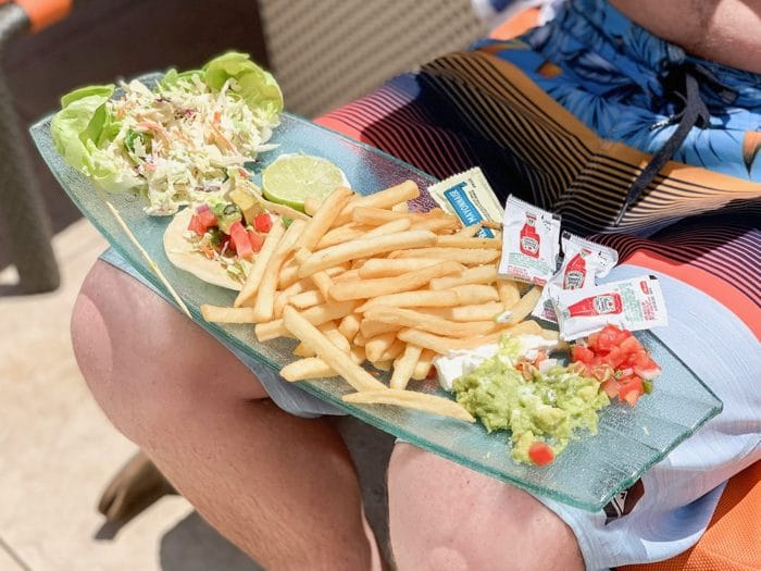 Daily Eats | Fish Tacos and Fries Pool Side at Grand Sierra Resort & Casino in Reno, Nevada.
