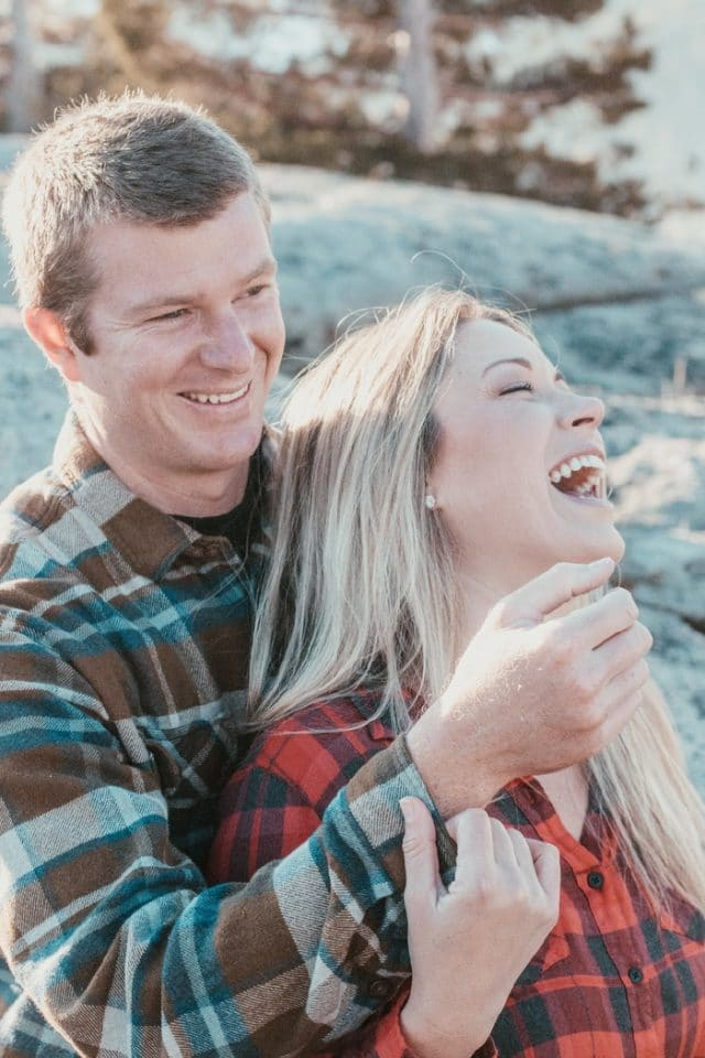Adventure is Everywhere - A Beautiful Couple Portrait Captured by Nichole Collins Photo at Lake Donner.