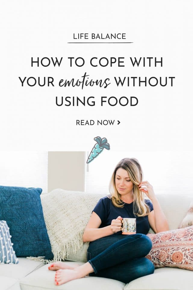 Five steps you can take to learn how to cope with your emotions without turning to food.