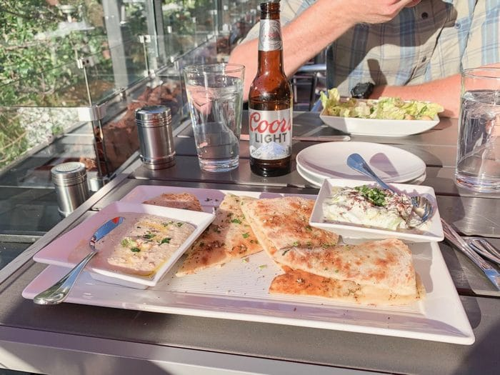 Daily Eats | Flatbread with tzatziki and hummus from The Shore at the Renaissance Hotel in Reno