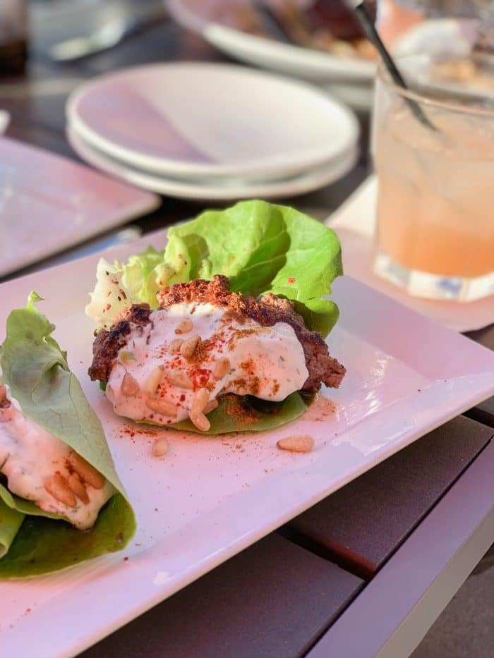 Daily Eats | Beef lettuce wraps with tzatziki from The Shore at the Renaissance Hotel in Reno