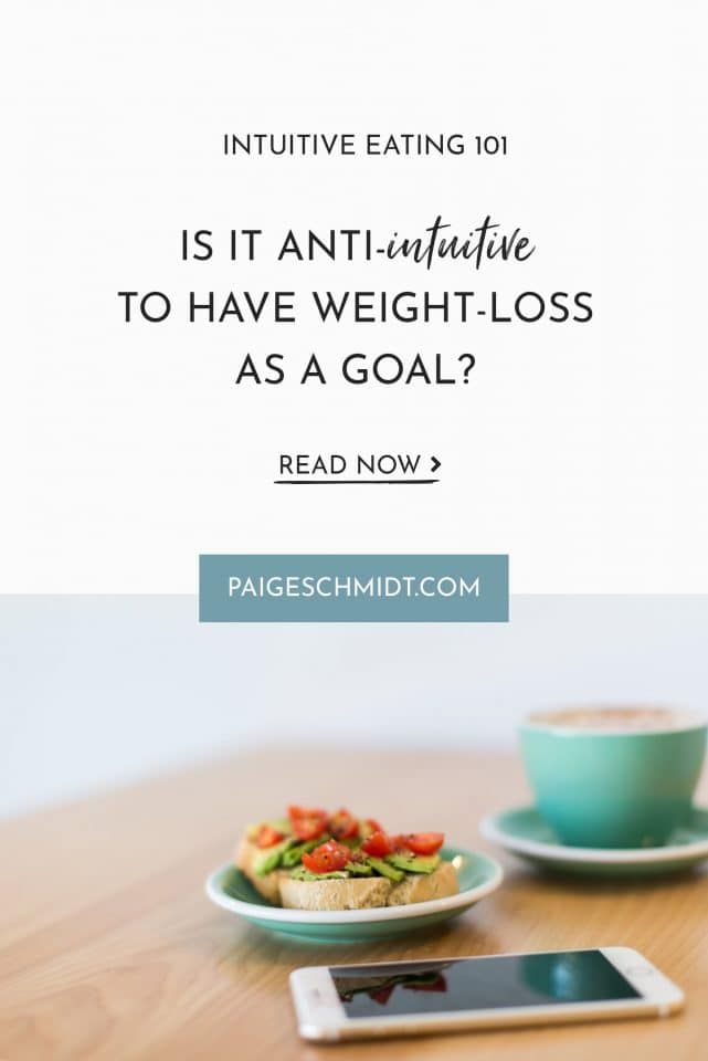 A few weeks back I wrote two blog posts that are sparking new conversation around intuitive eating (people are asking things like: is weight-loss as a goal anti-intuitive?). So let's talk about it.
