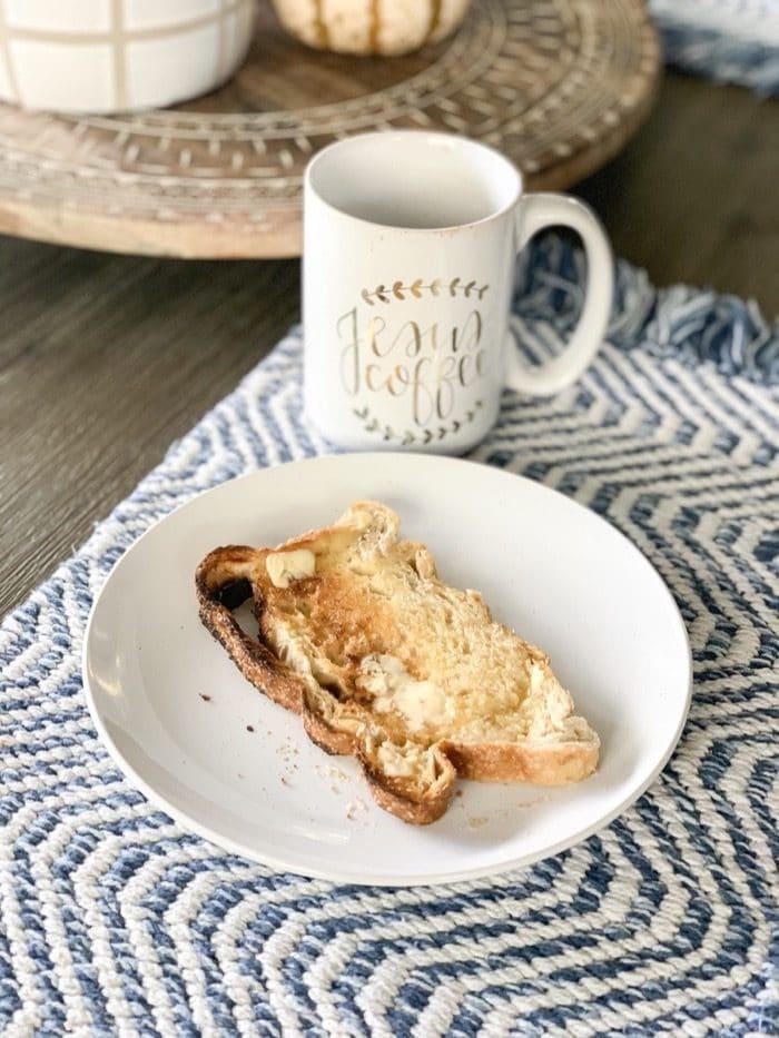 I made a slice of sourdough toast
