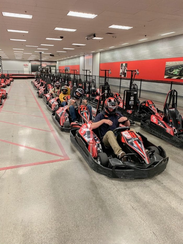 We went to Need2Speed in Reno and did go-kart racing.