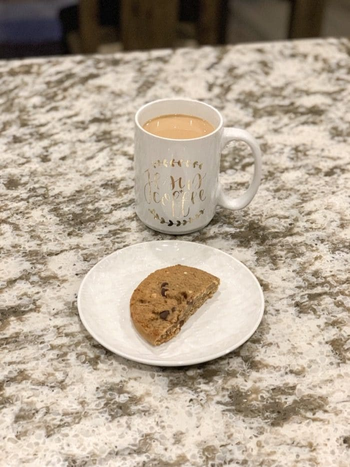 """Half of a """"Complete Cookie"""" with my coffee"""