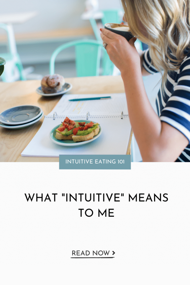 "What ""Intuitive"" Means To Me"