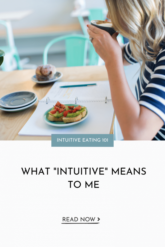 What Intuitive Means to Me