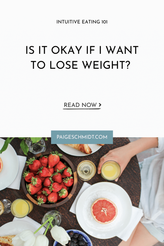 Is It Okay If I Want to Lose Weight?