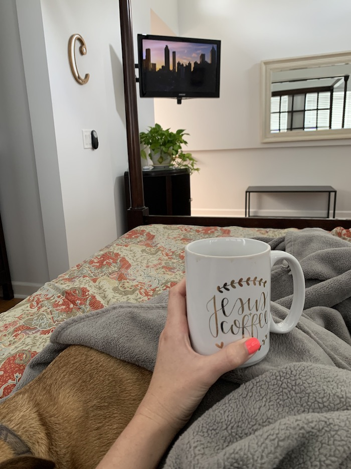 Mornings with coffee and quiet time
