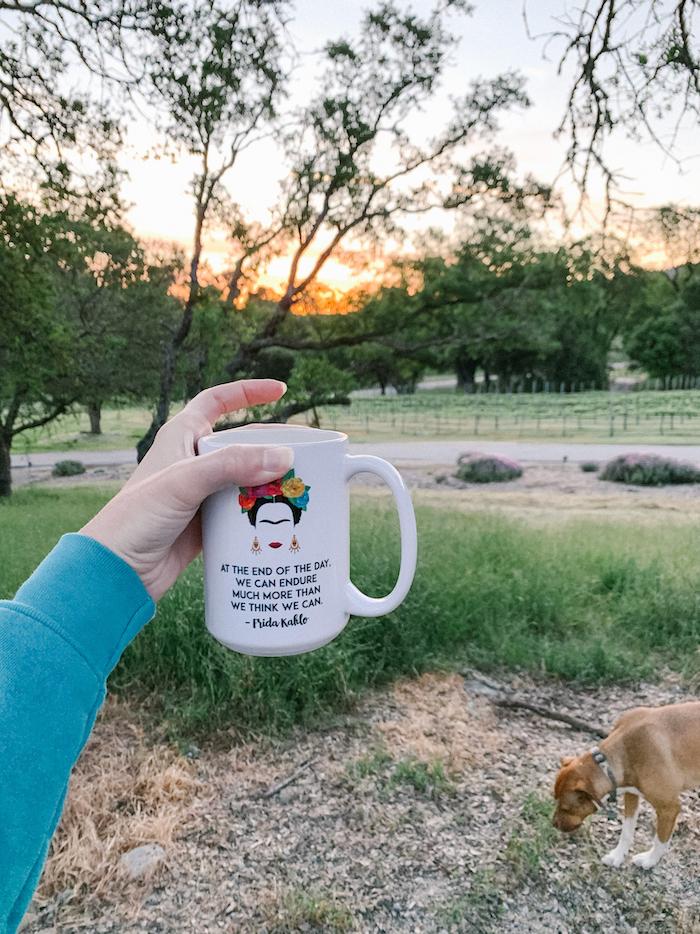 Sunrise and coffee