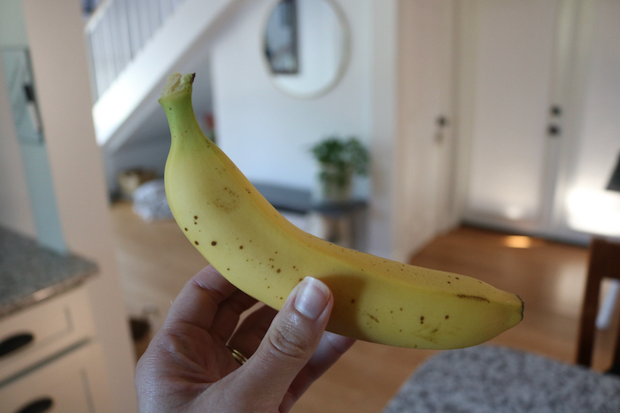 Banana for a snack