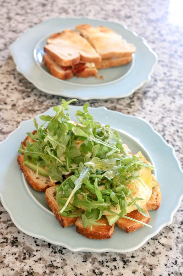 Marco and I both had breakfast BLAT's at 8:30. Yummmm. I had mine opened faced (but with the same amount of food).