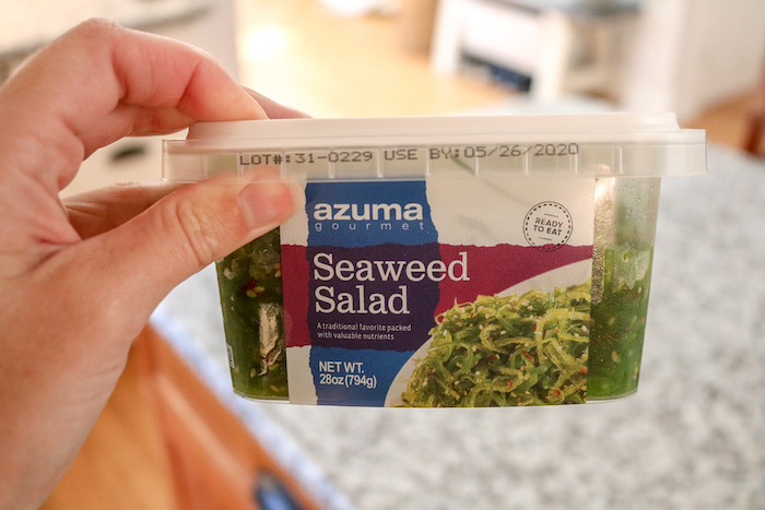 this is the seaweed salad, also from Costco.