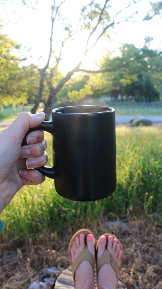 Coffee outside