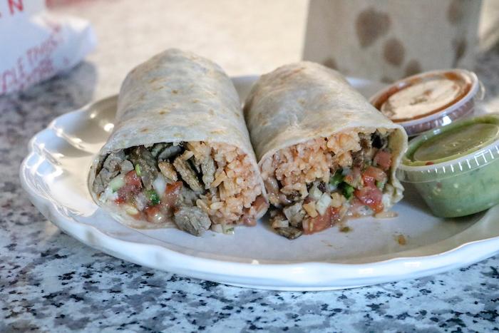 La Parrilla - YUM. Carne Asada burrito