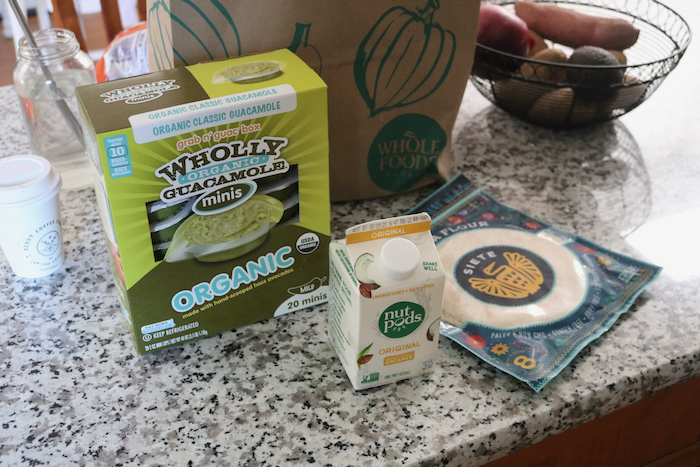 I needed Wholly Guacamole from Costco (I hadn't been wanting to go to Costco just for this, but had been craving it!), plus Nut Pods creamer and Siete tortillas from Whole Foods