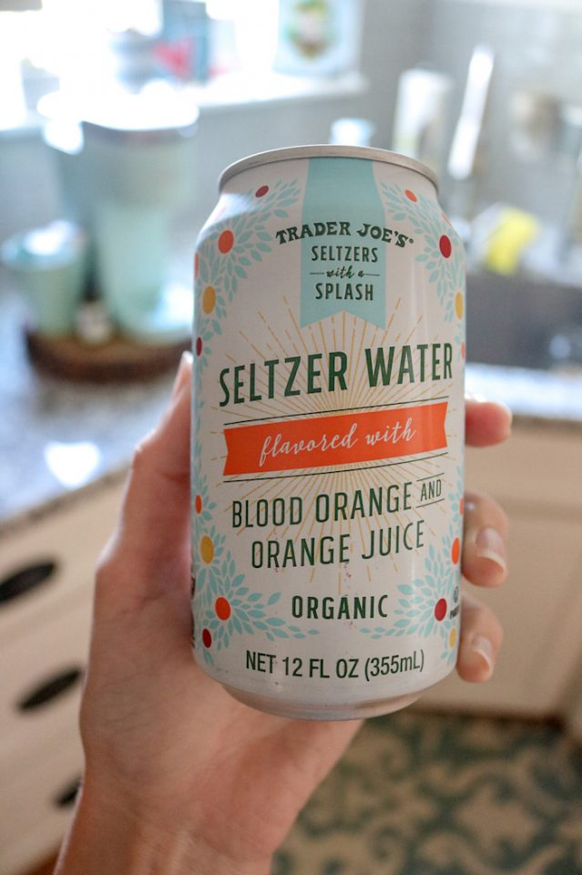 DELICIOUS blood orange seltzer water - you guys, new fav!