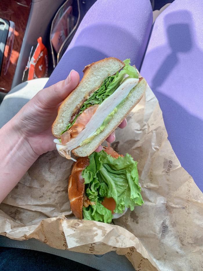 Noah's bagels to get this turkey sandwich