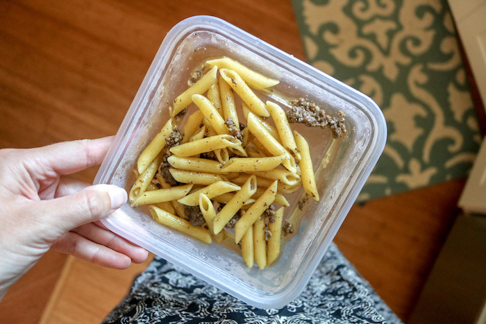 Leftover pasta