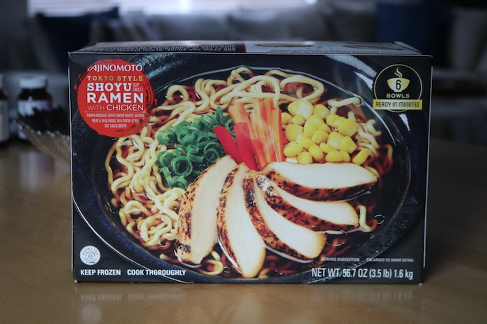 Ramen bowls that Marco picked up at Costco and OH MY did it hit the spot!