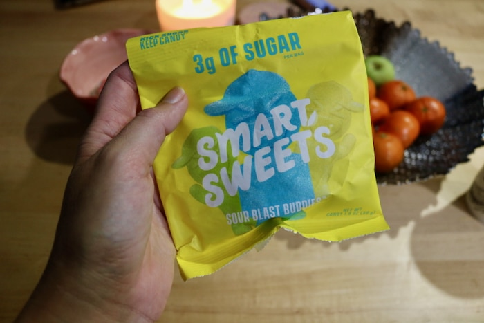 After my California roll dinner I had a couple of these Smart Sweets to try.