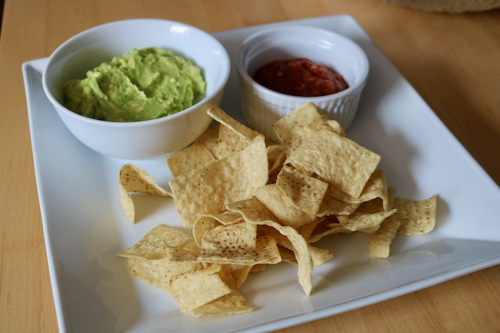 I made this guac and salsa plate to enjoy.