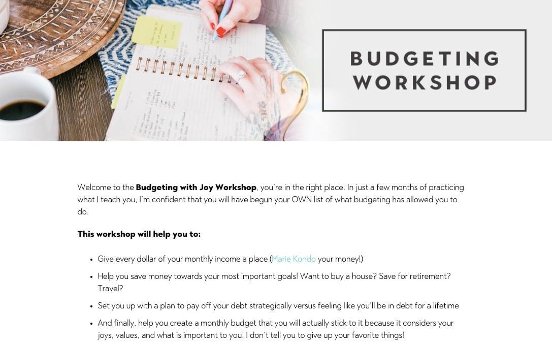 Budgeting and Saving Workshop