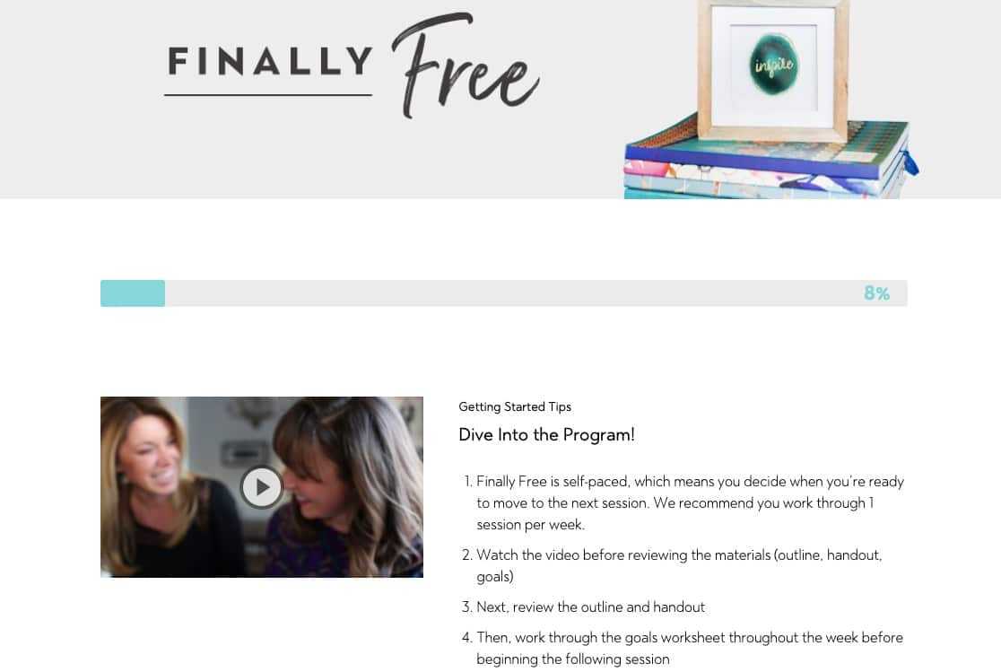 Inside Finally Free Program