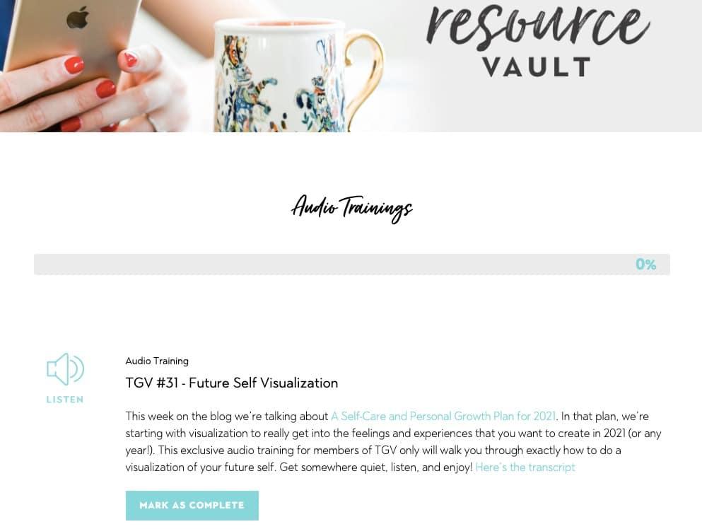 Resource Vault inside of The Growth Vault