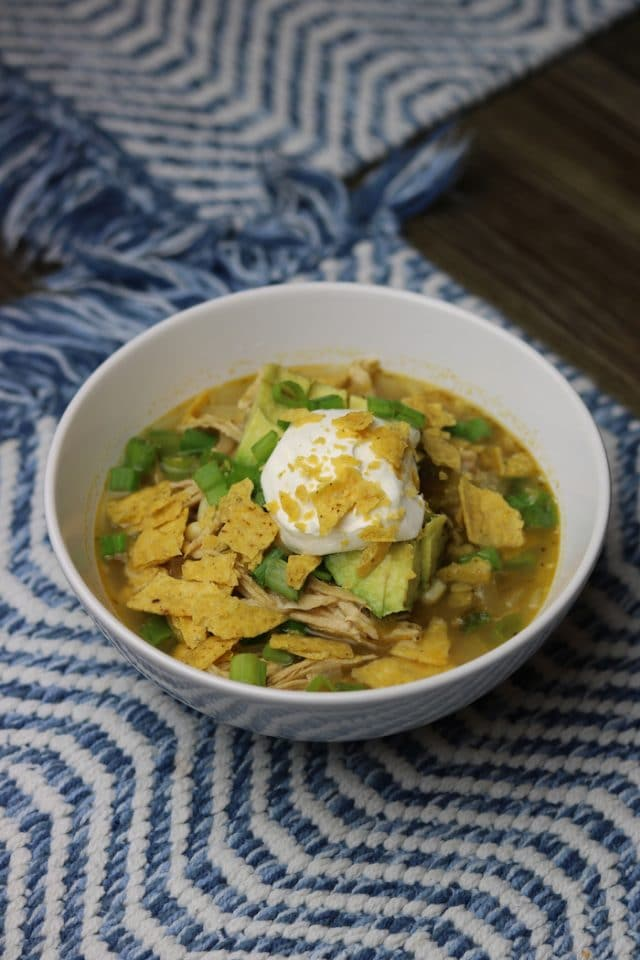 For dinner I made this delicious white bean chili recipe from Healthy Mama Kris.