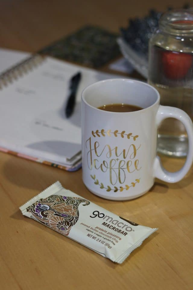 Sunday I woke up and had coffee with a GoMacro bar while I planned out the next few weeks of December in my planner and jotted down some meals for this week