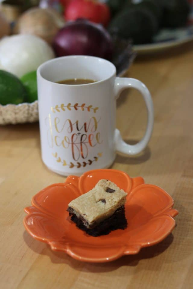 When I got home I had one cookie/brownie bar bite with more coffee while I started breakfast.
