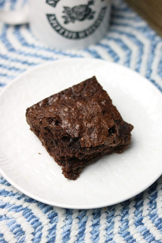 And for dessert, I enjoyed a brownie that I'd brought home the night before! So yum to have this Wed night with milk.