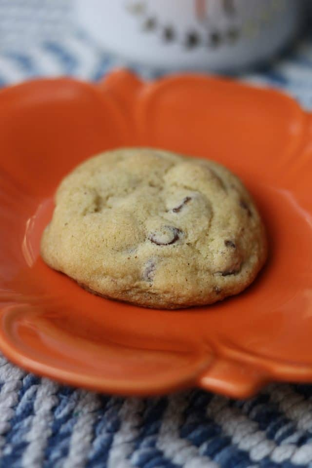 While I heated up lunch I enjoyed a cookie that my friend Corrine made with coffee.