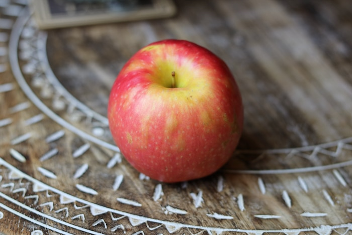 Snacked on another apple (apples have been tasting so good to me!).