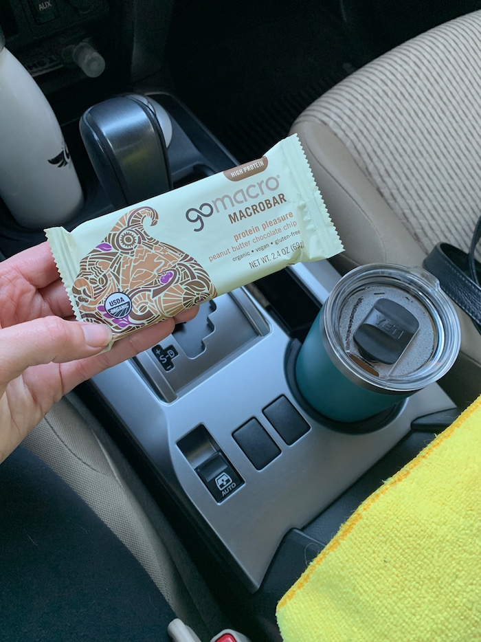 Tuesday morning started off with the gym, coffee, and a GoMacro bar.