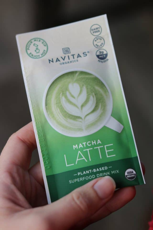 I sipped a matcha latte after lunch as I got back to work