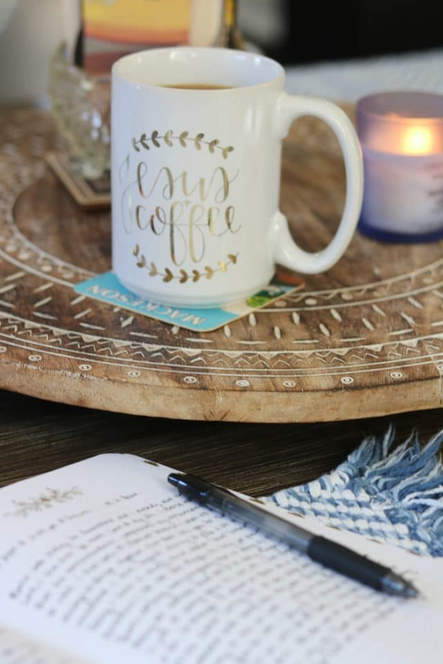 I poured another cup of decaf coffee, lit my candle, turned on worship music, read Jesus Calling, and did a gratitude brain dump. It felt so good.